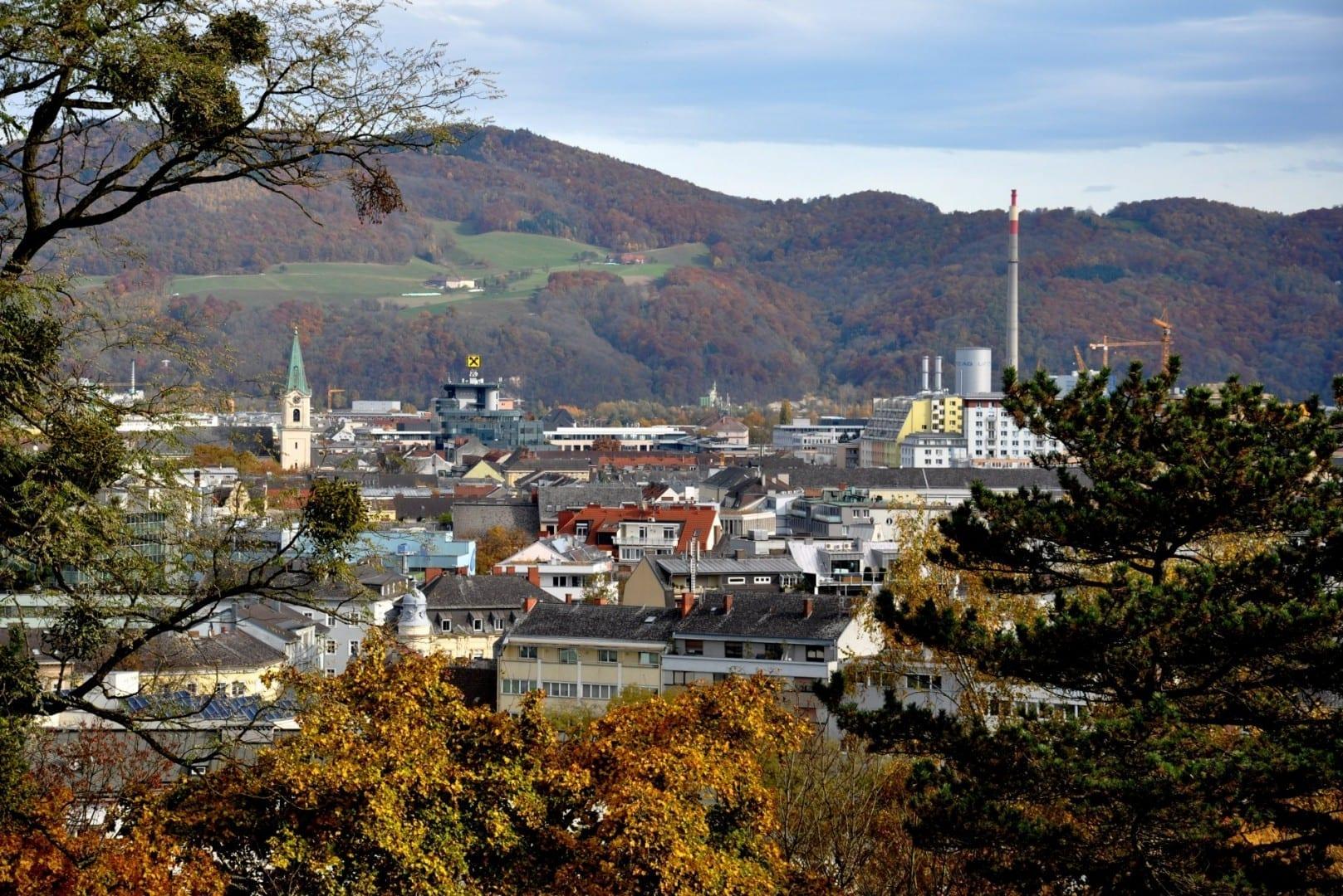 Linz visto desde Balzarekrondeau Linz Austria
