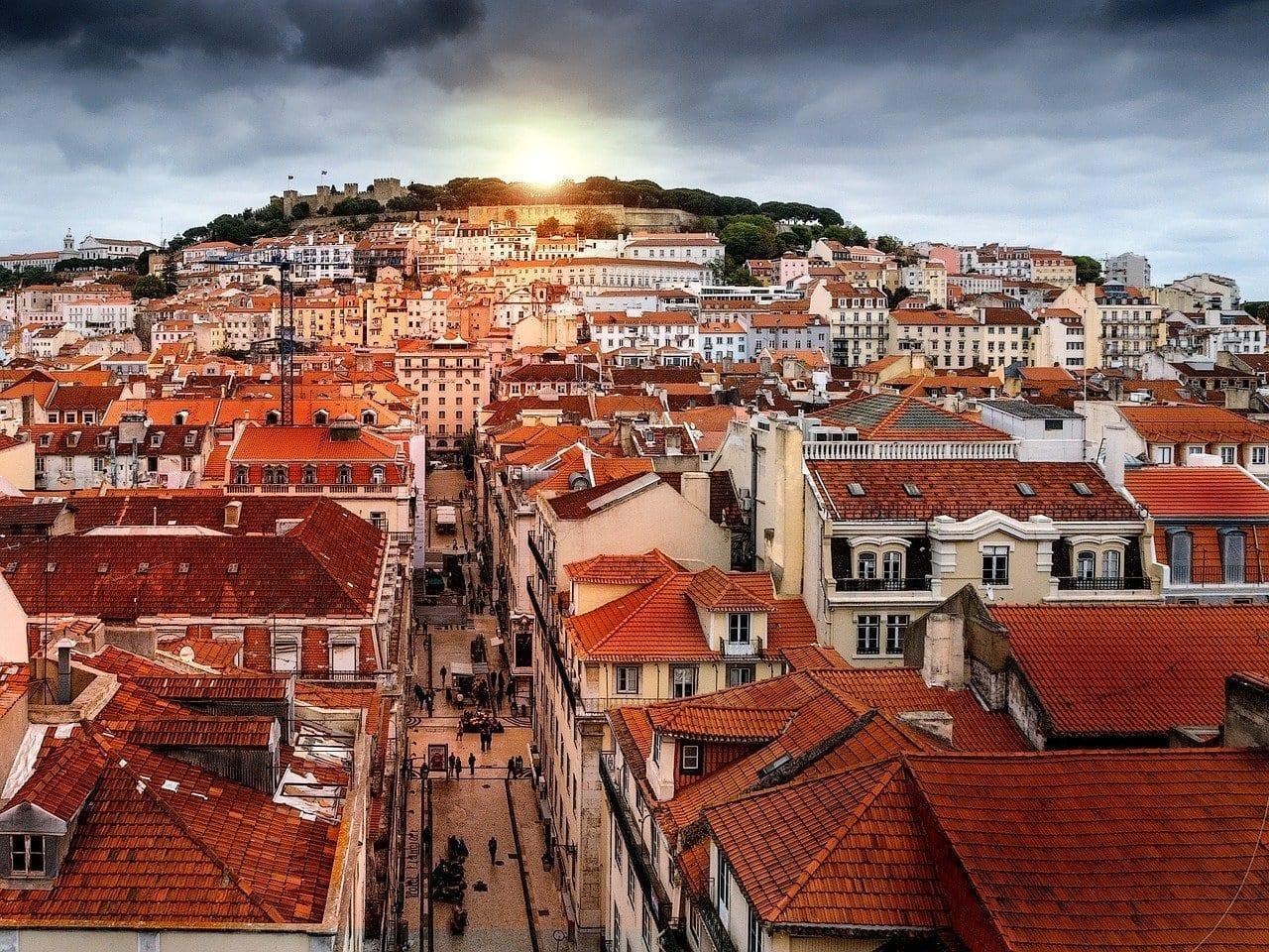 Lisboa Retoque Ocaso Portugal