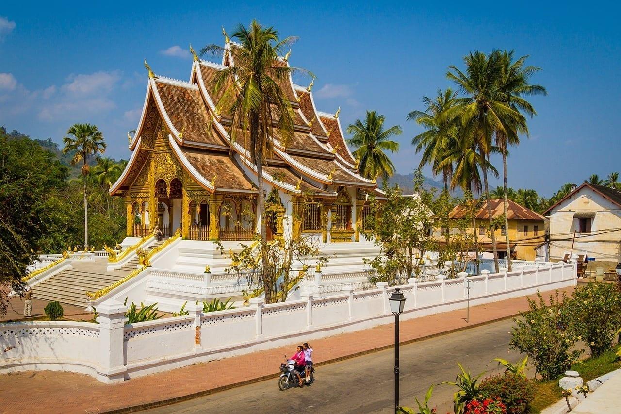 Luang Prabang Templo En Luang Luang República Democrática Popular Lao