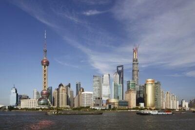 Lujiazui, visto desde el Bund Shanghái China
