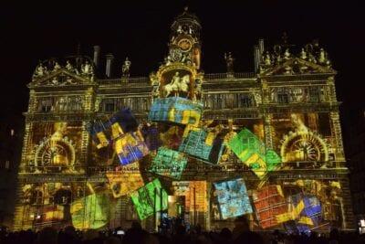 Lyon Festival De Las Luces Noche Francia