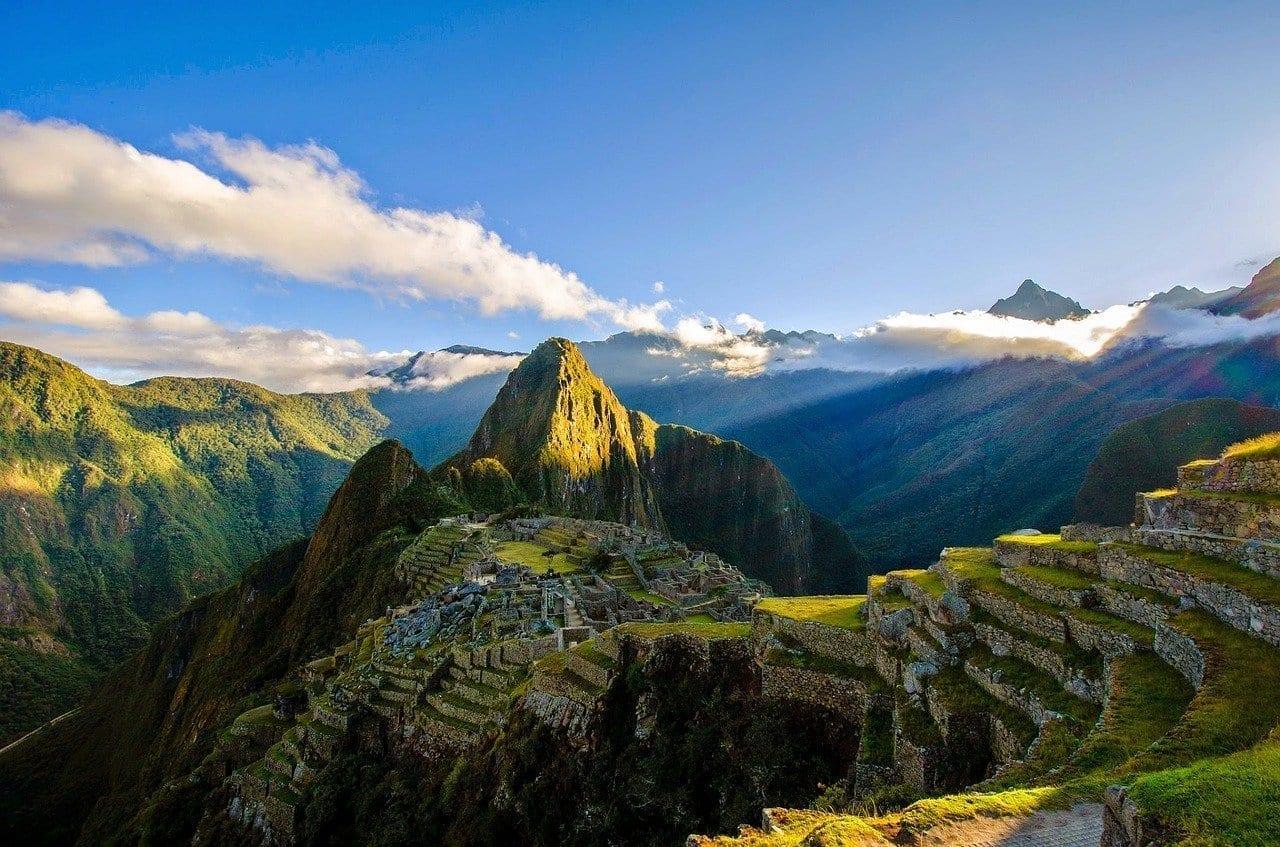 Machu Picchu Ruinas Montañas Perú