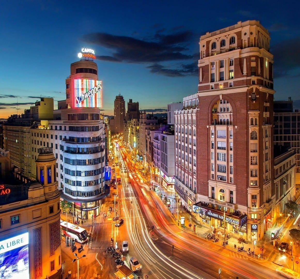 Madrid Calle La Plaza Del Callao España
