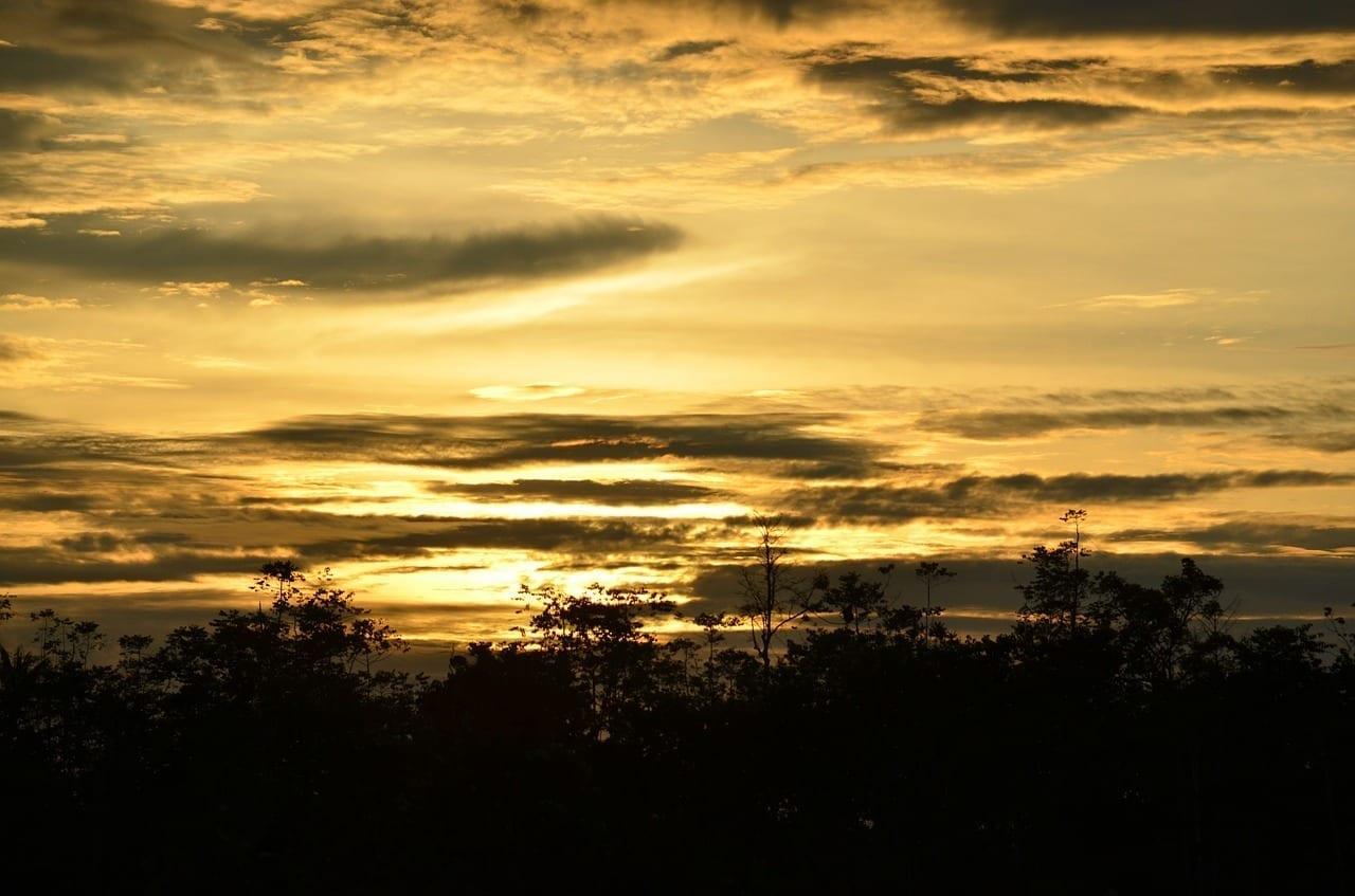 Malasia Kota Kinabalu Puesta De Sol Malasia