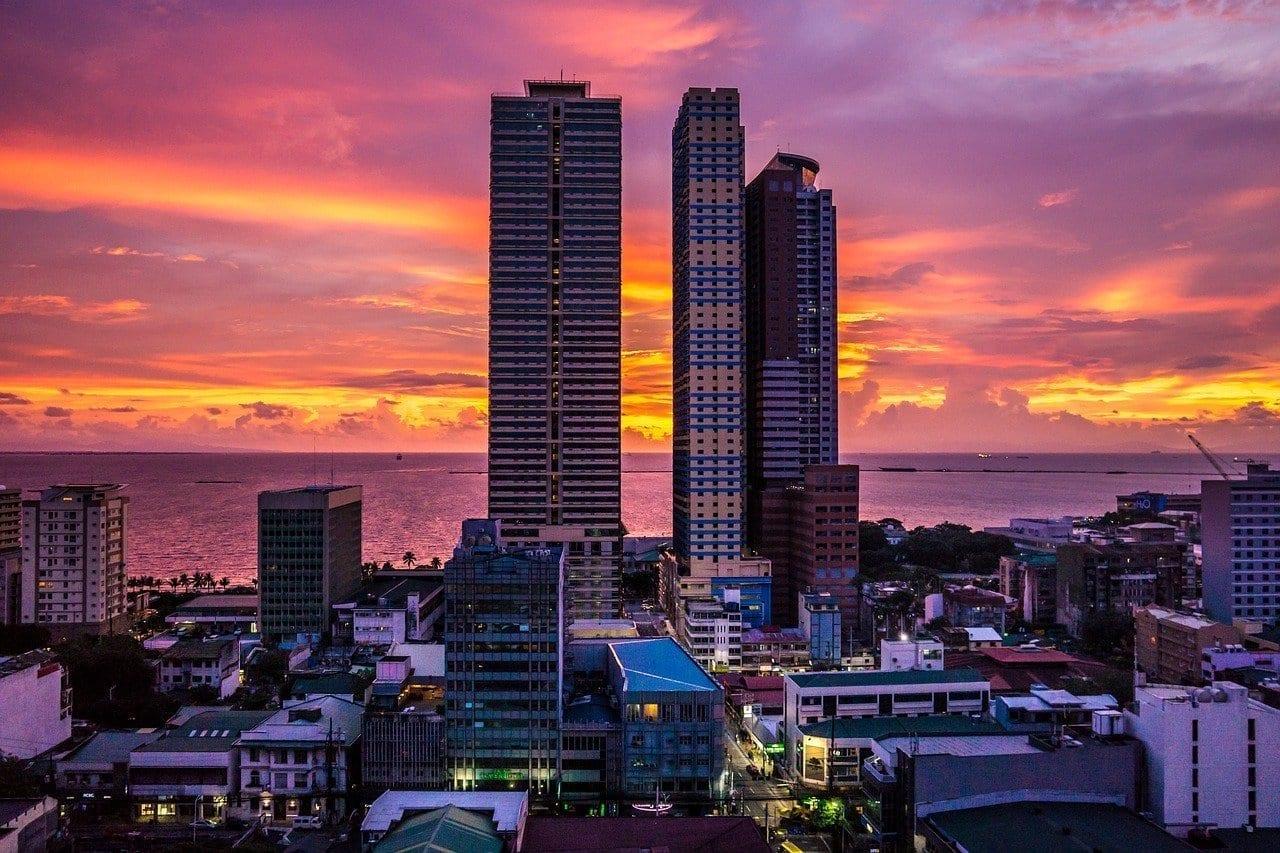 Manila Ciudad Bahía De Manila Filipinas