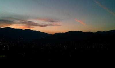 Medellín Colombia Anochecer Colombia
