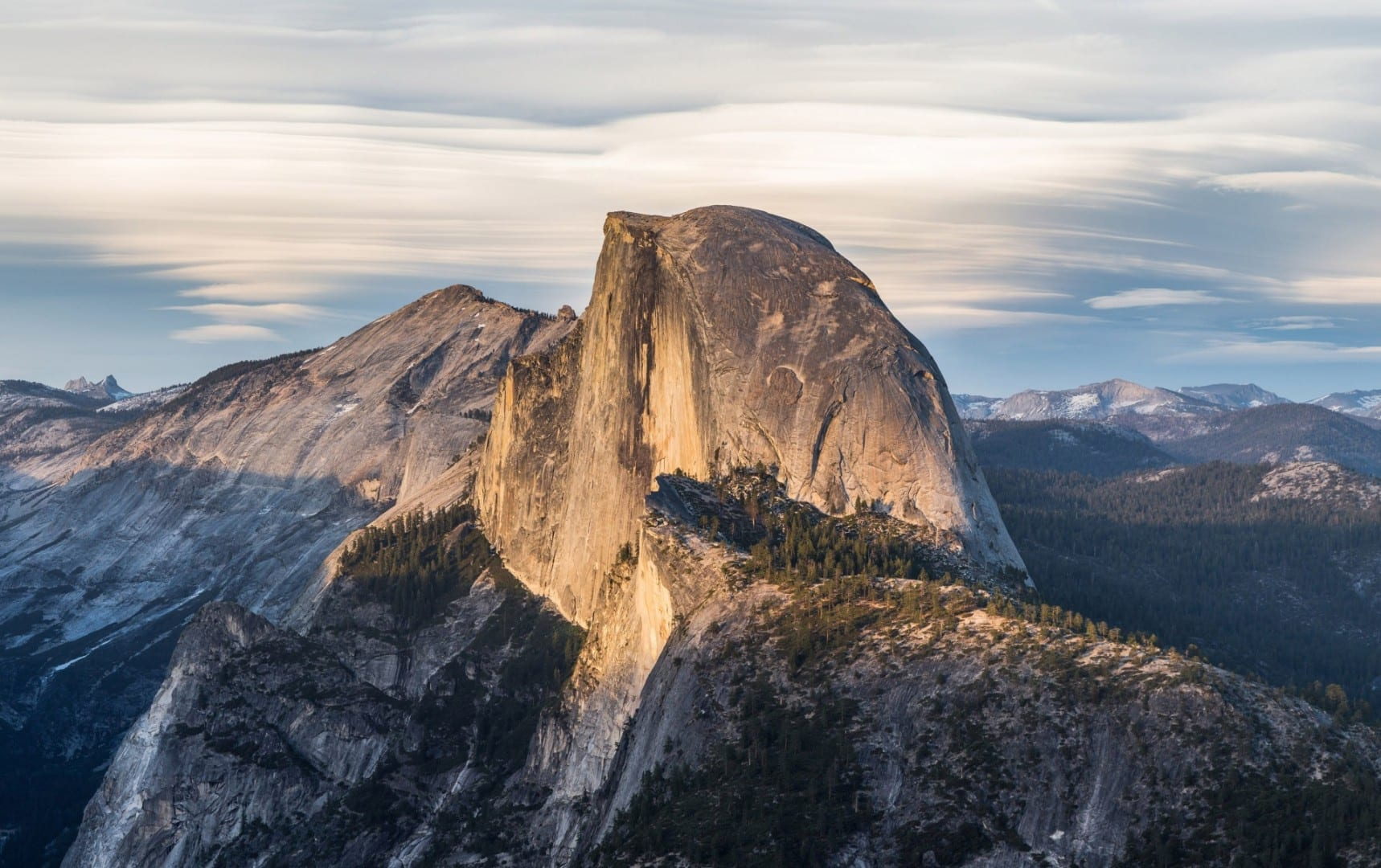 Media Cúpula de Glacier Point Yosemite Parque Nacional CA Estados Unidos