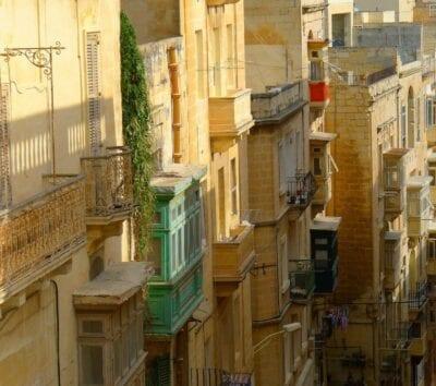 Mediterráneo Valletta Callejón Malta