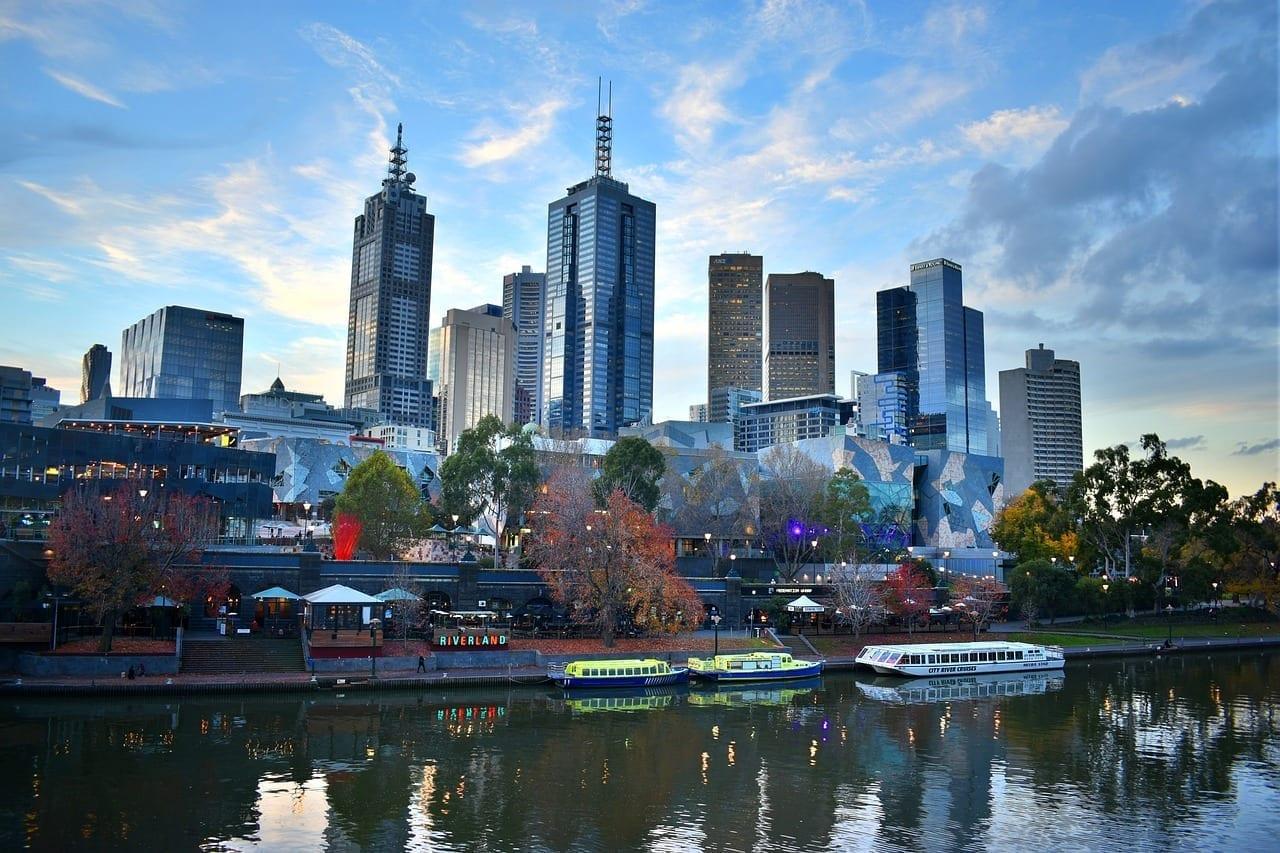 Melbourne Ciudad Horizonte Australia