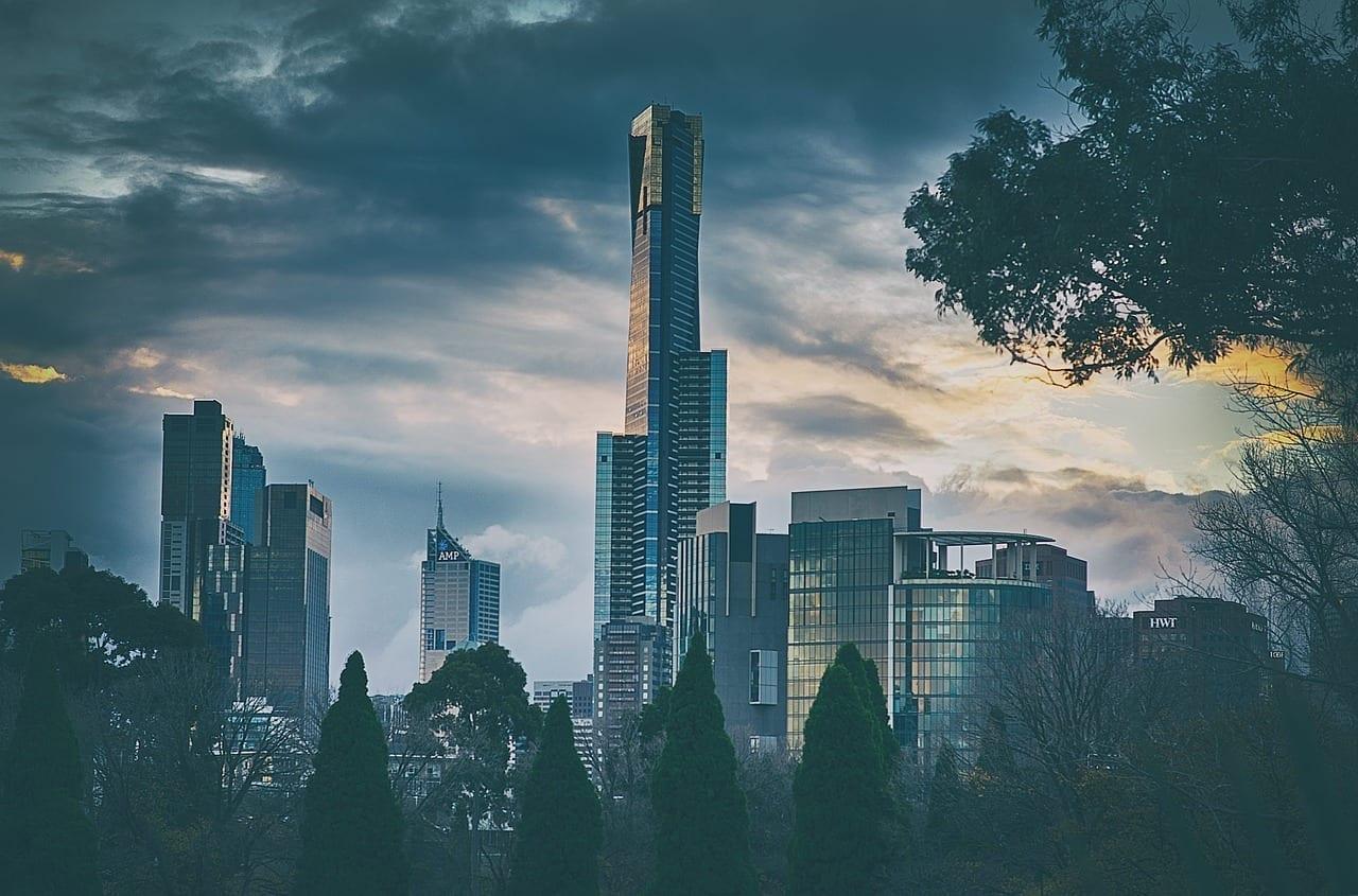Melbourne Ciudad Paisaje Urbano Australia