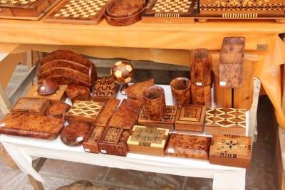 Mercado de madera incrustada de Essaouira Esauira Marruecos