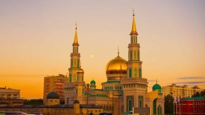 Mezquita Catedral De Moscú Mira Ramadán Rusia