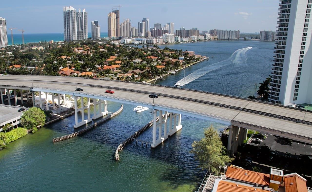 Miami Beach Océano Puente Estados Unidos