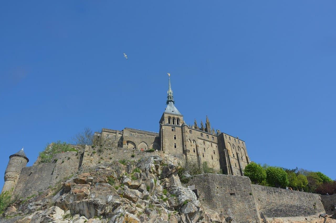 Mont Saint Michel La Bahía De Mont-saint-michel Abadía Francia