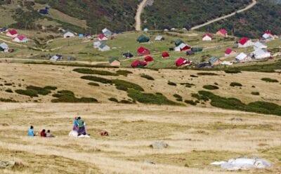 Montañas Pónticas en Pelitcik, distrito Şalpazarı Trebisonda Turquía
