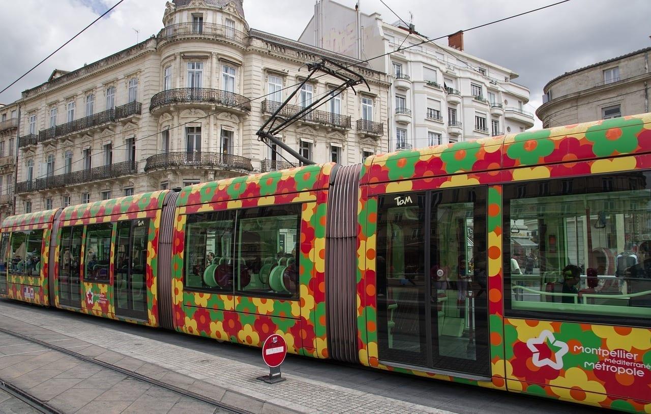 Montpellier Tranvía Vagón Francia