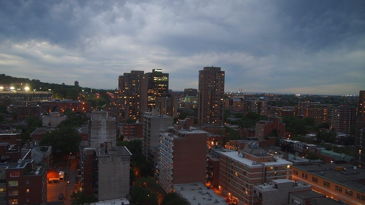 Montreal Noche Crepúsculo Canadá