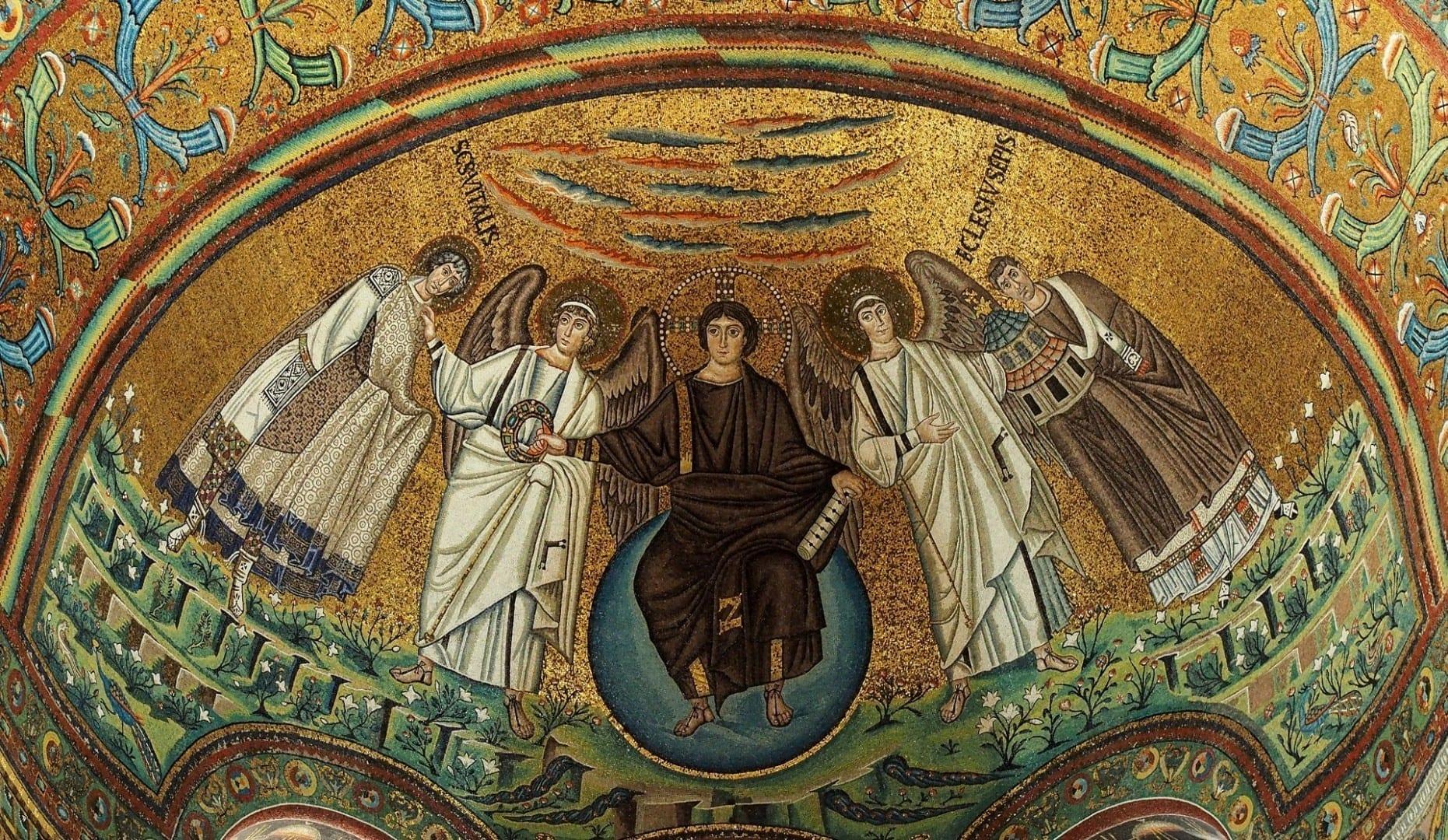 Mosaico del ábside - Basílica de San Vitale Ravenna Italia
