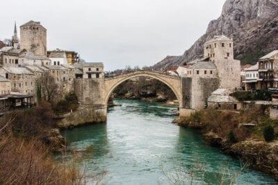 Mostar Puente De Viaje Bosnia y Herzegovina