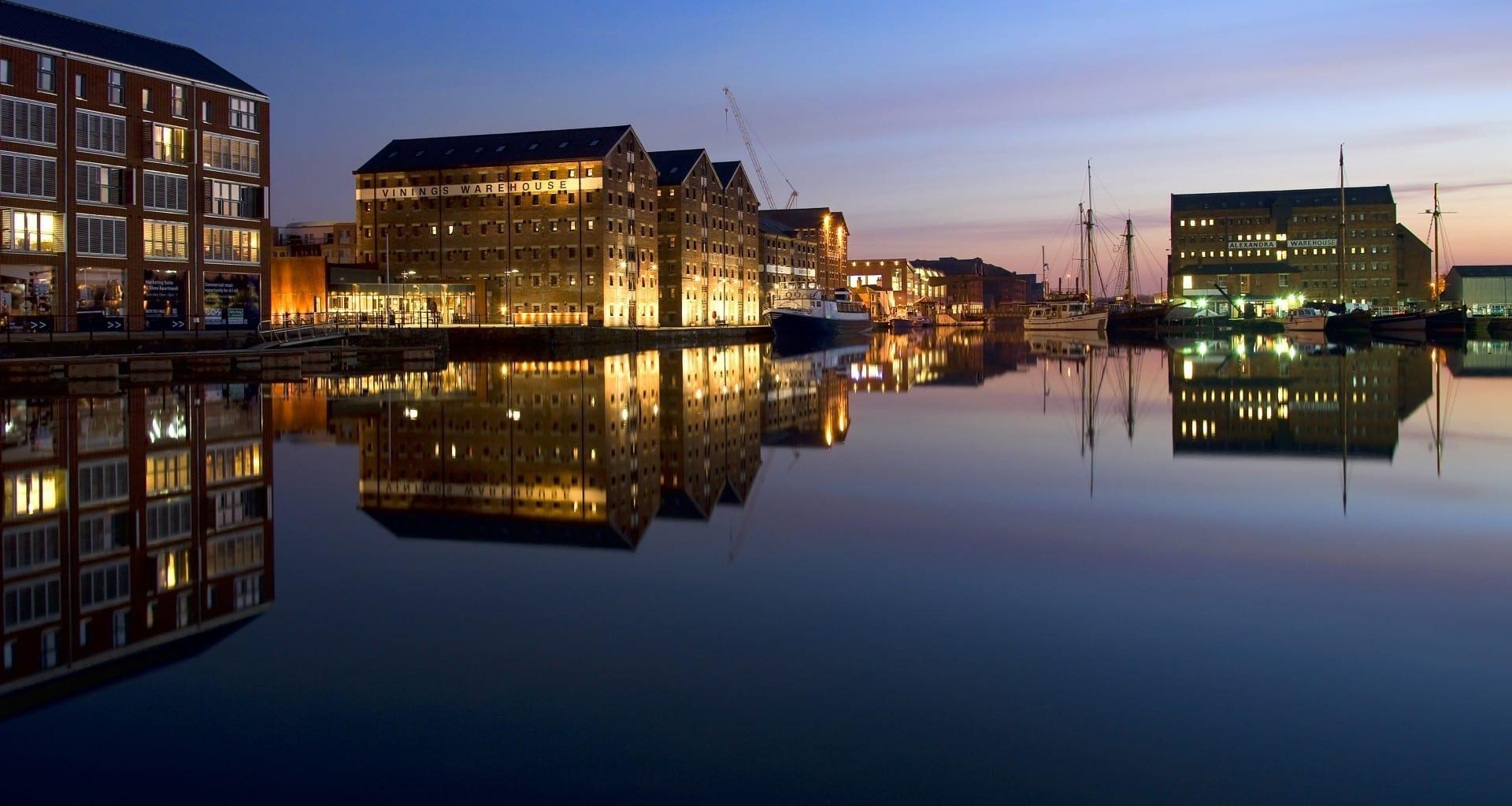 Muelles de Gloucester Gloucester Reino Unido