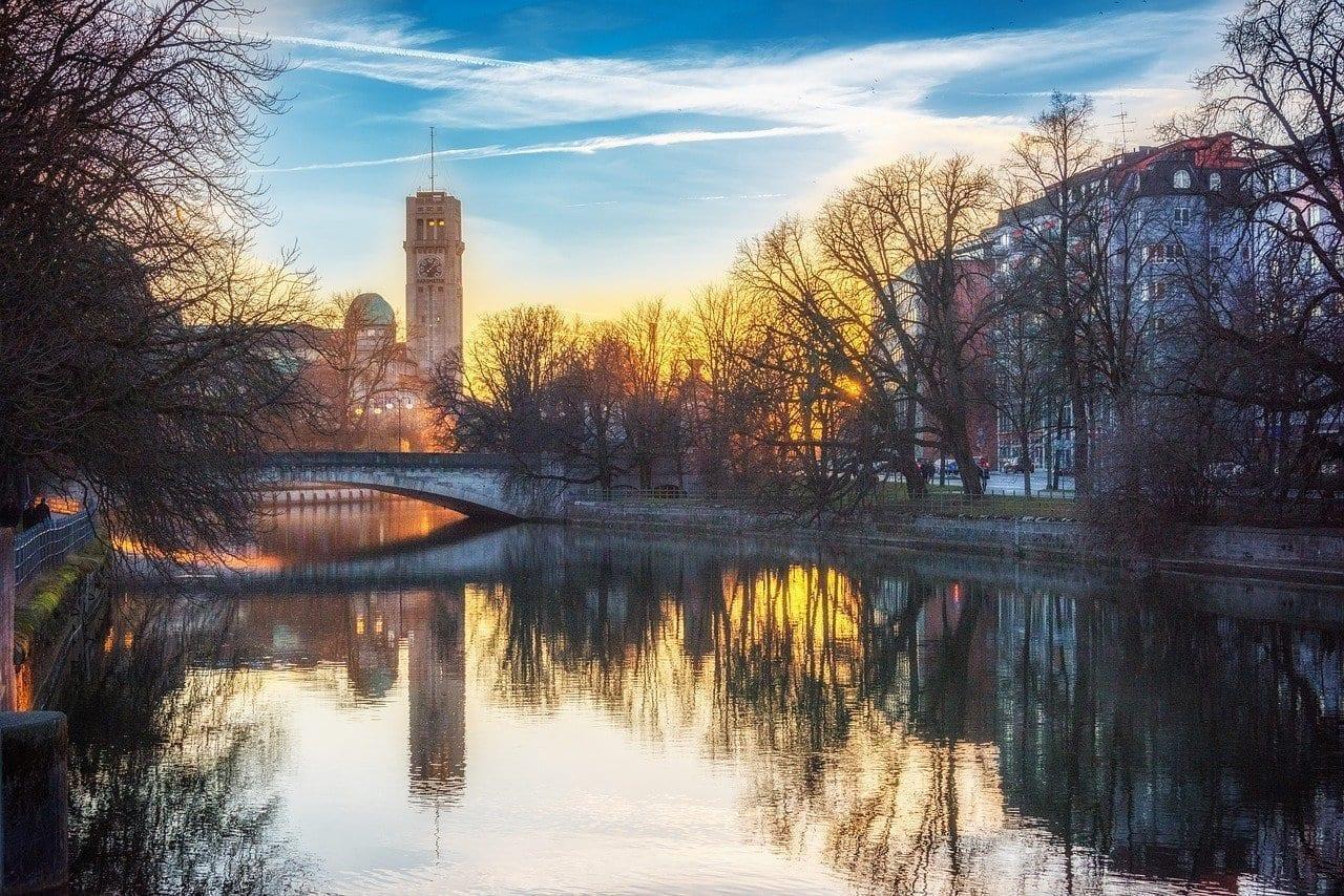 Munich Puente Noche Alemania