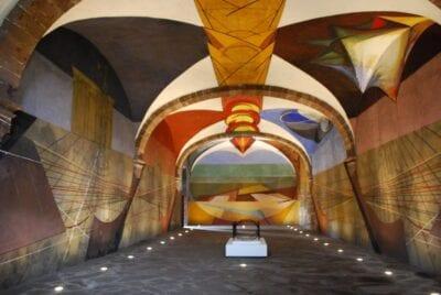 Mural inacabado de David Alfaro Siqueiros en el Centro Cultural Ignacio Ramírez (Bellas Artes) San Miguel de Allende México