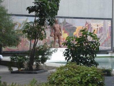 Mural que representa la fundación de Monterrey. Monterrey México