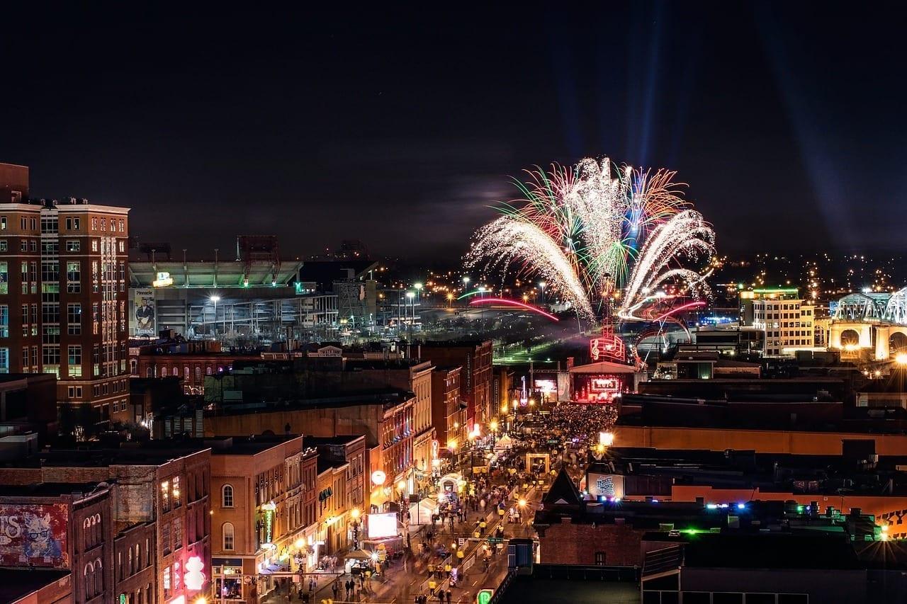 Nashville Fuegos Artificiales Nochevieja Estados Unidos