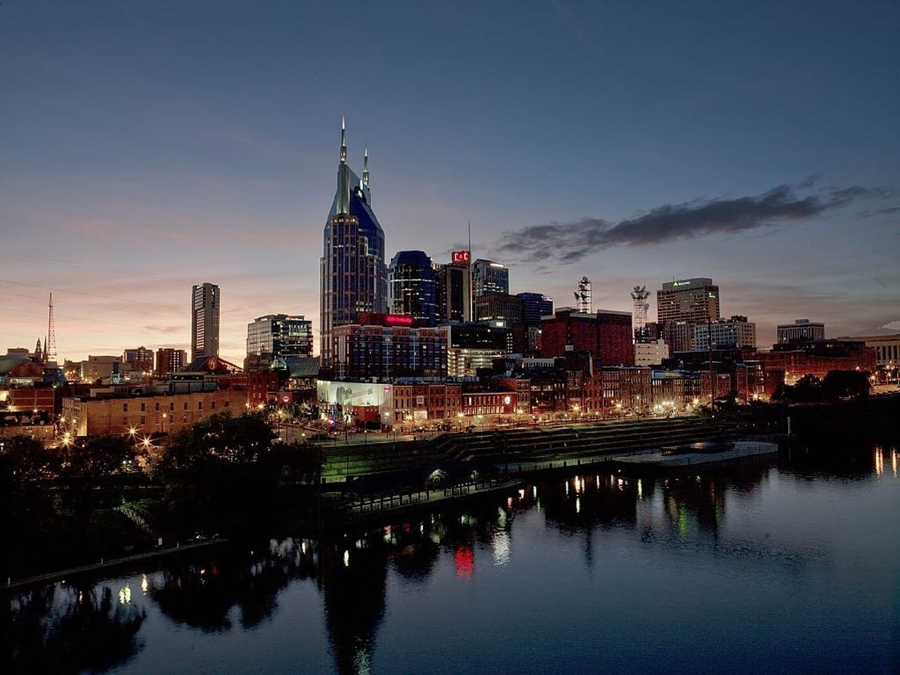 Nashville Horizonte Centro De La Ciudad Estados Unidos