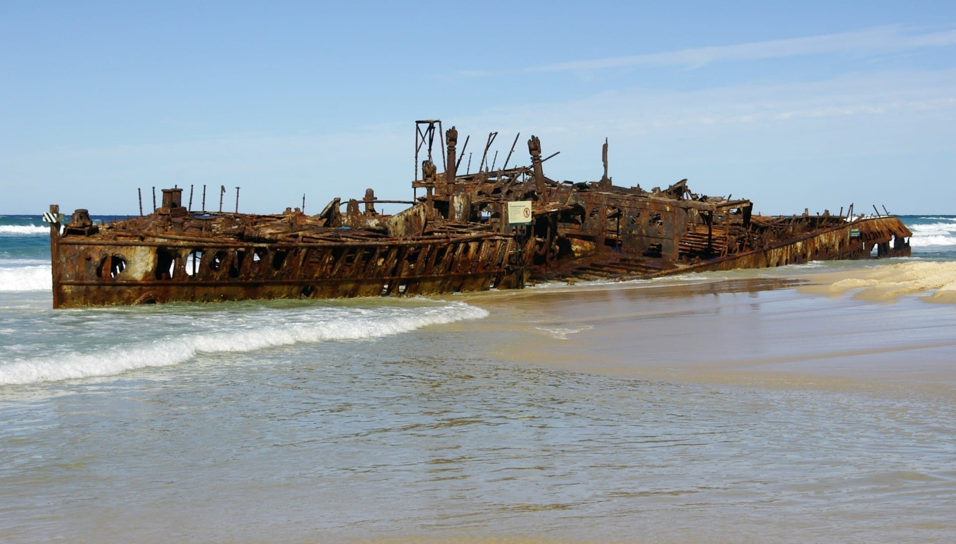 Naufragio del Maheno Fraser Island Australia