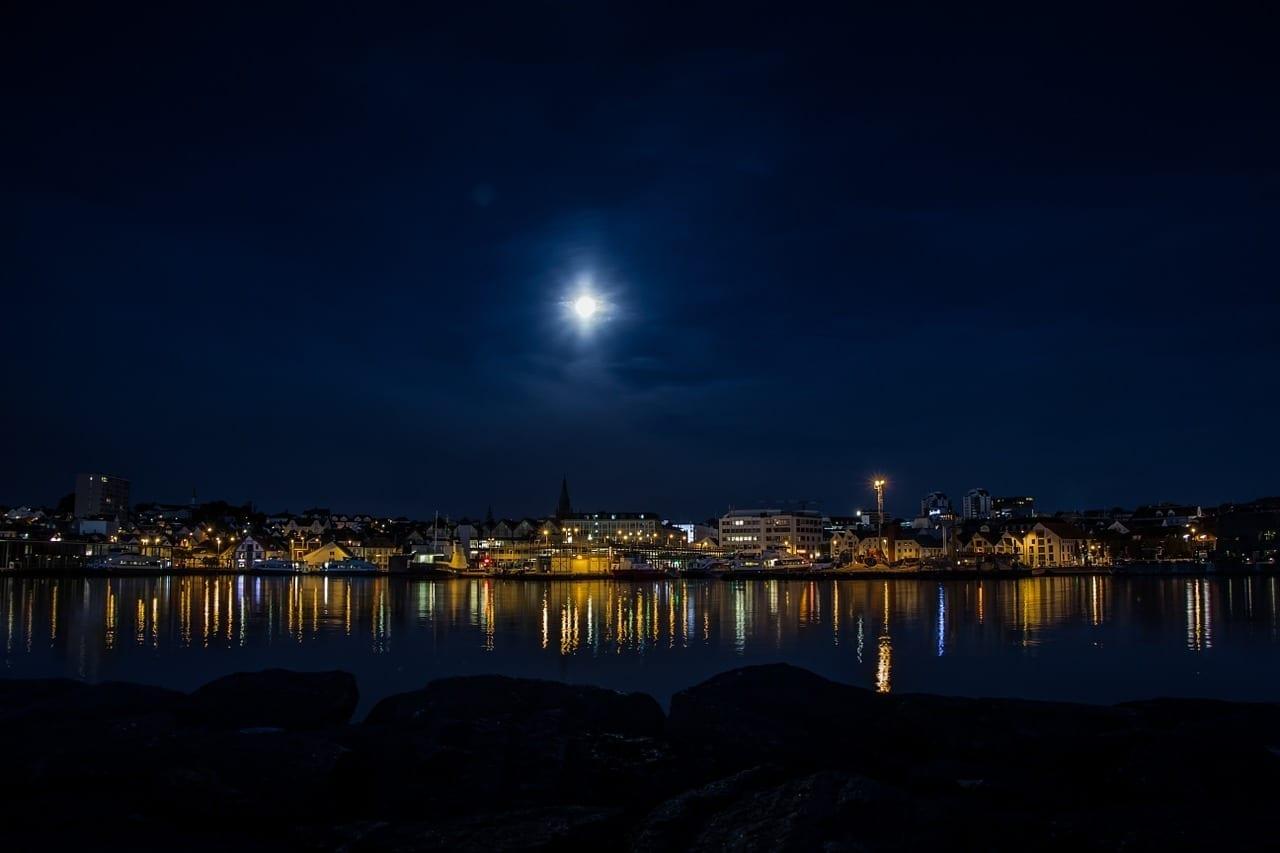 Noche Stavanger Mar Noruega