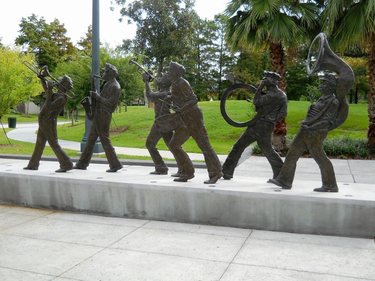 Nueva Orleans Brazo De Louis Fuerte Música Estados Unidos