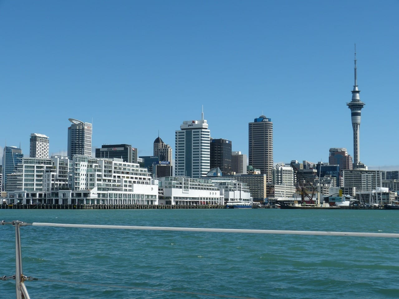 Nueva Zelanda Auckland Horizonte Nueva Zelanda