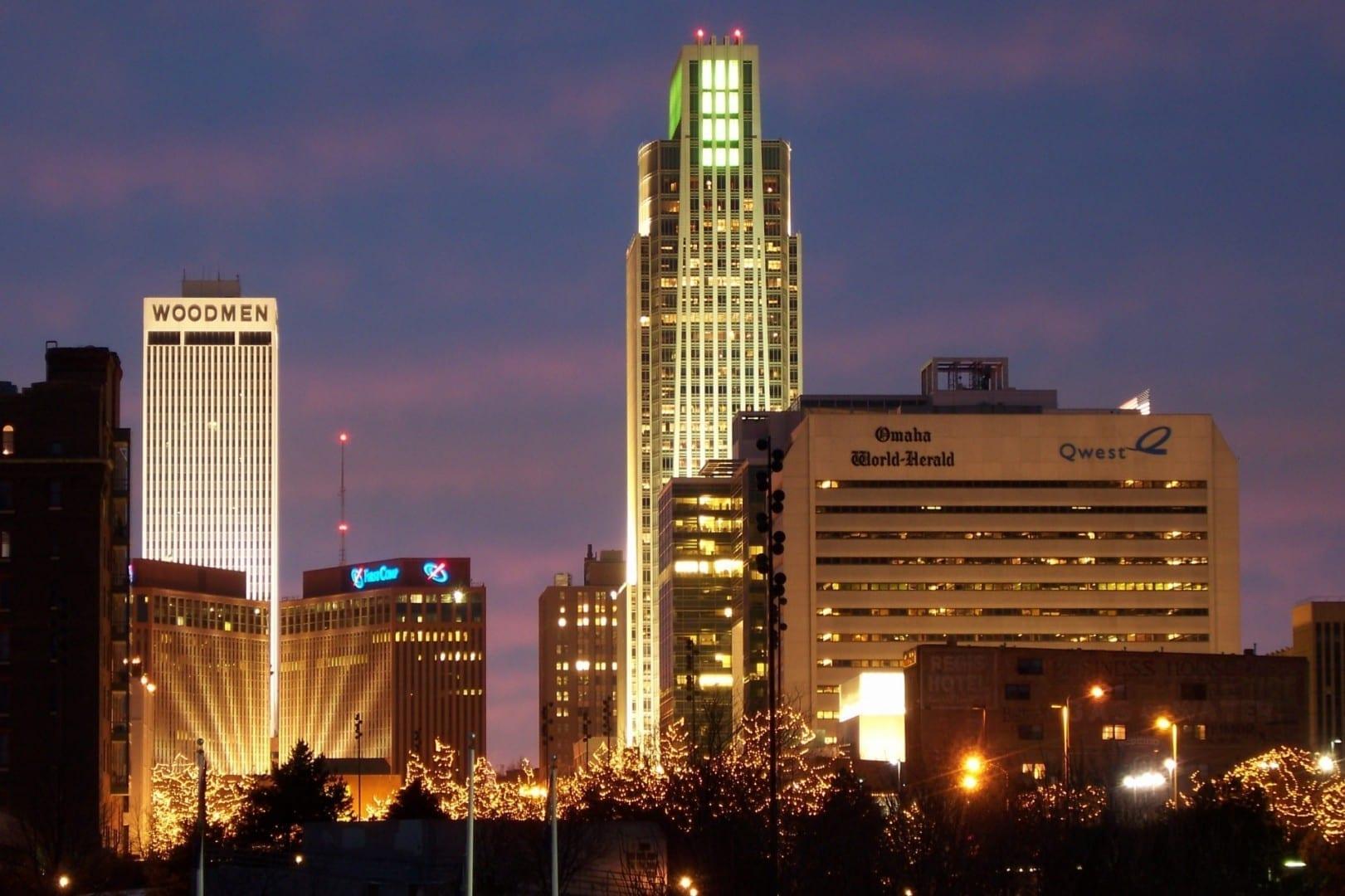 Omaha de noche Omaha (Nebraska) Estados Unidos