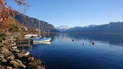 Paisaje Lago Montreux Dents-du-midi Suiza