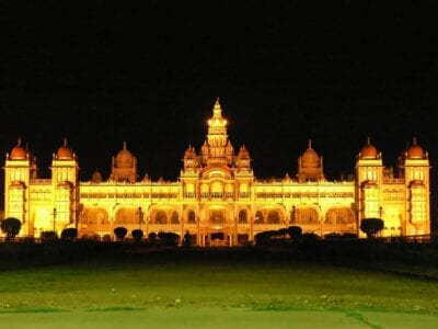 Palacio De Mysore Arquitectura Sistema De Iluminación India