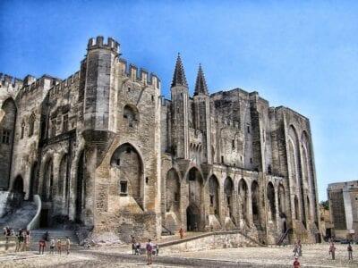 Palais Des Papes Avignon Francia Francia