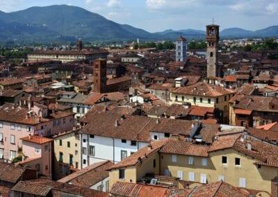 Panorama de Lucca desde la Torre Guinigi Lucca Italia