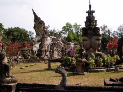Parque de Buda Vientiane República Democrática Popular Lao