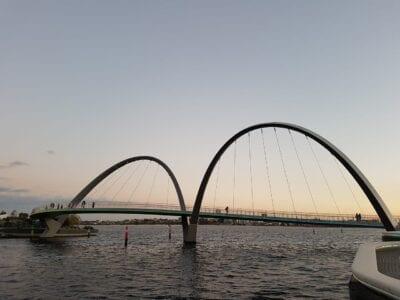 Perth Puente Puesta De Sol Australia