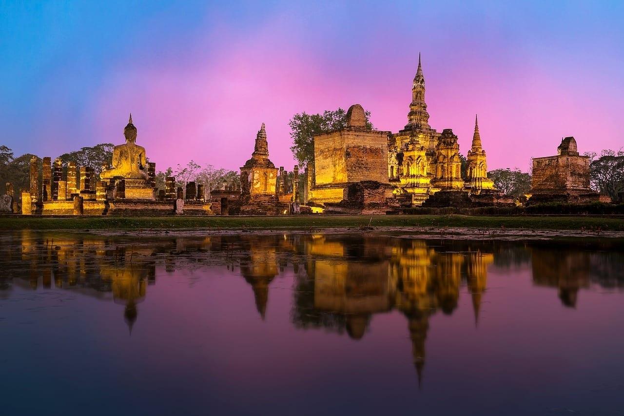 Phra Nakhon Si Ayutthaya Antigua Arquitectura Tailandia