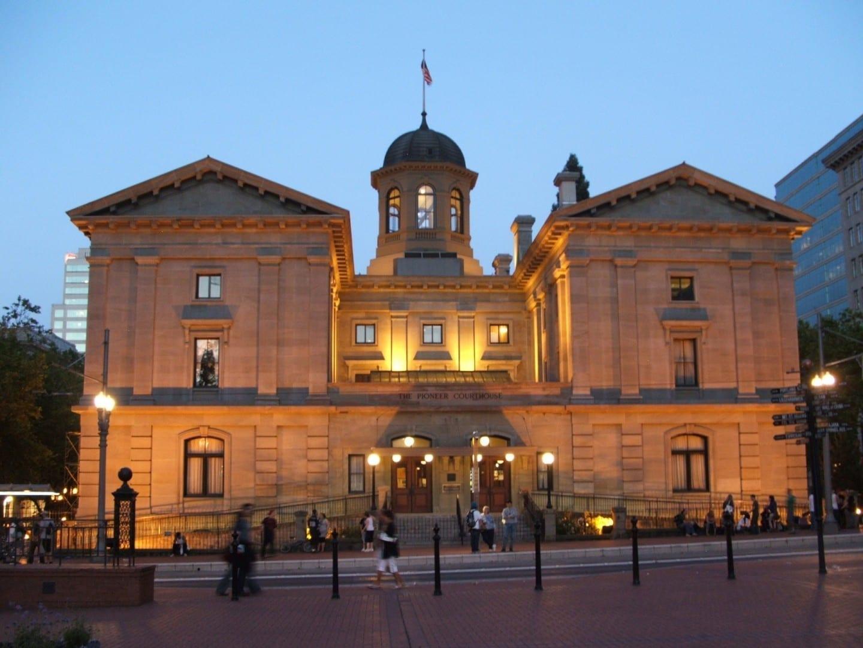 Pioneer Courthouse, Downtown Portland OR Estados Unidos