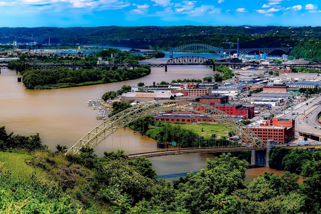 Pittsburgh Puentes Pennsylvania Estados Unidos