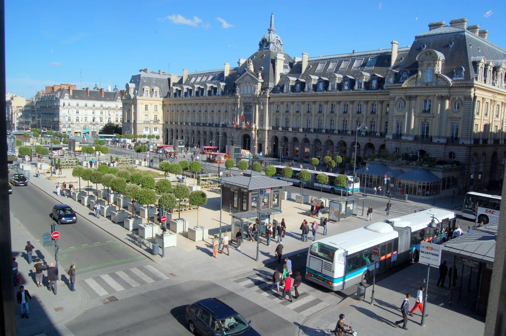 Place de la République Rennes Francia