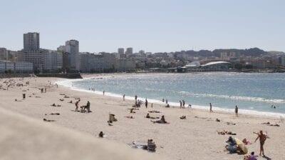 Playa A Coruña Mar España