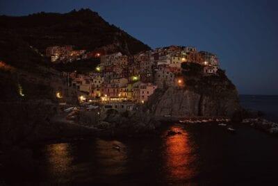 Playa Cinque Terre Noche Italia