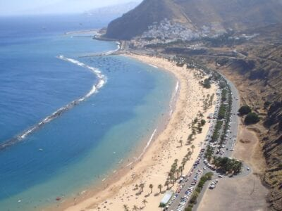 Playa de Las Teresitas Santa Cruz de Tenerife España