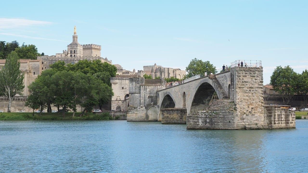 Pont Saint Bénézet Pont D' Avignon Ródano Francia