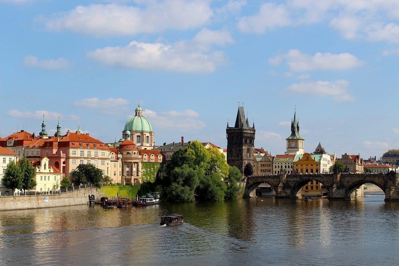 Praga Moldavia El Puente De Carlos República Checa
