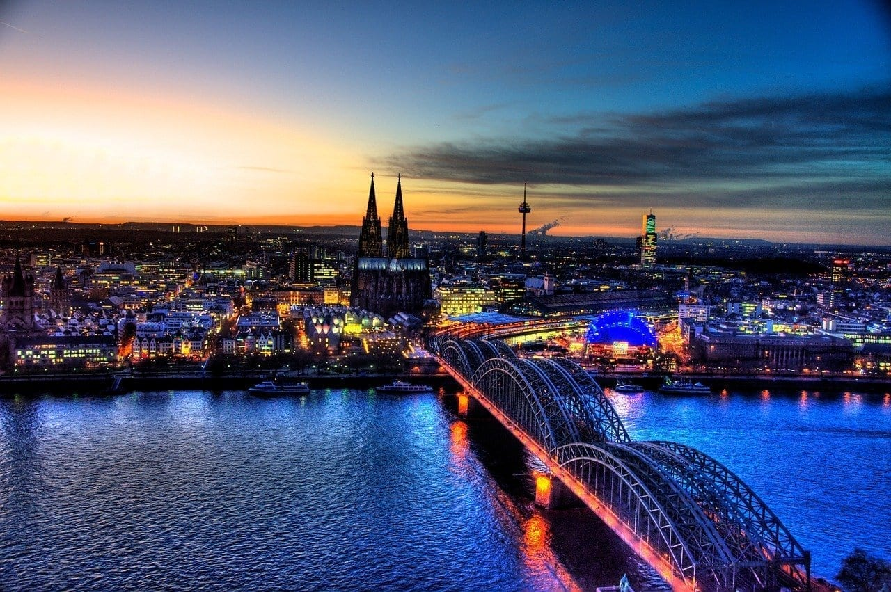Puente De Hohenzollern Colonia Horizonte Alemania